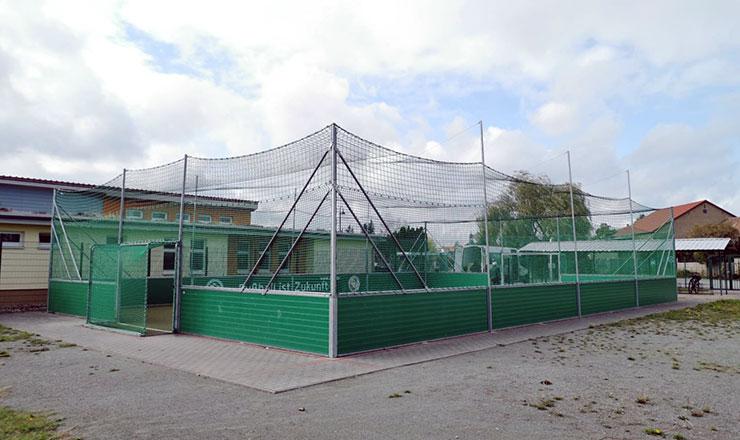 Netzkäfig für DFB-Minispielfeld in Flechtingen
