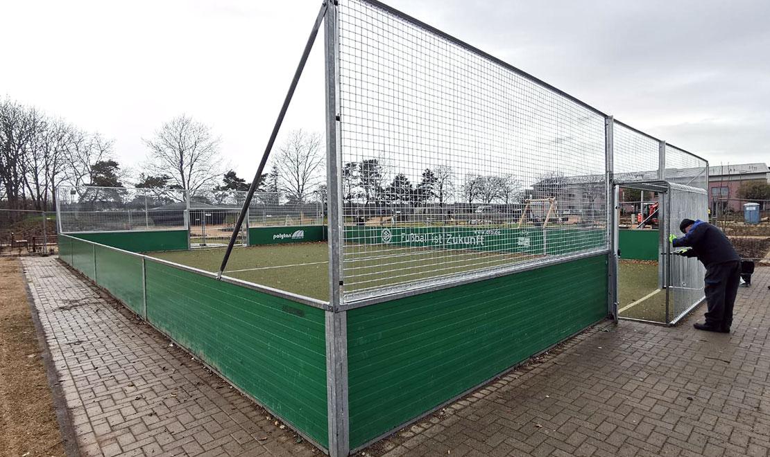 Umrüstung DFB-Minispielfeld in SoccerGround Antivandal