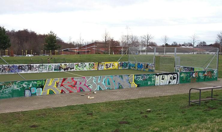 Minispielfeld in Rostock-Südstadt