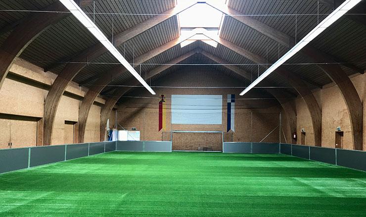 Indoor-Soccerfield in der Mehrzweckhalle Ebnet